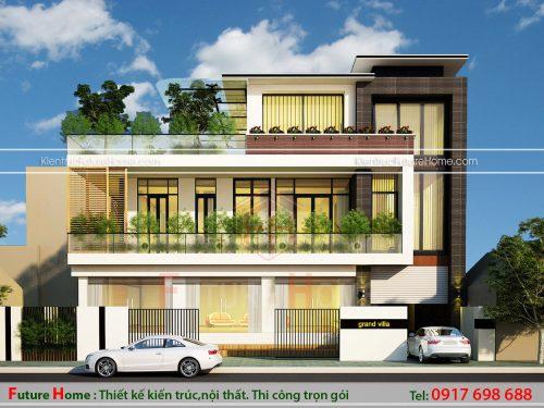 Thiết kế biệt thự 3 tầng với nội thất phong cách hiện đại