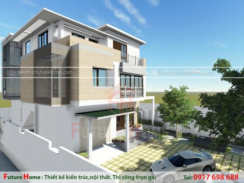 Thiết kế biệt thự 2 tầng hiện đại đẹp