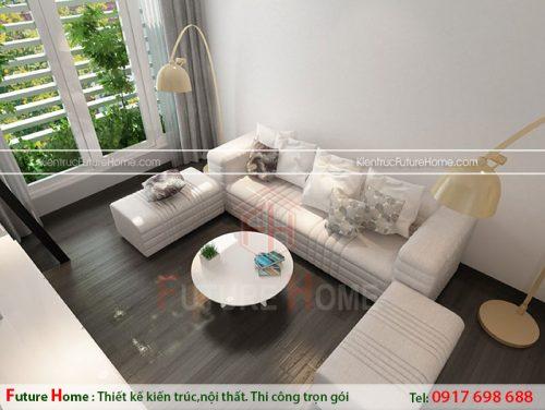 Phòng khách nhỏ gọn đơn giản