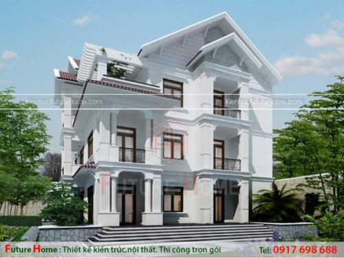 Biệt thự 3 tầng kiến trúc pháp đẹp