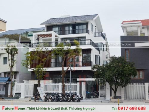Biệt thự hiện đại 4 tầng đẹp