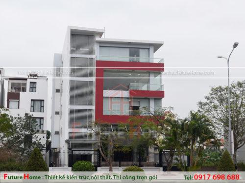 Tòa nhà văn phòng 5 tầng hiện đại