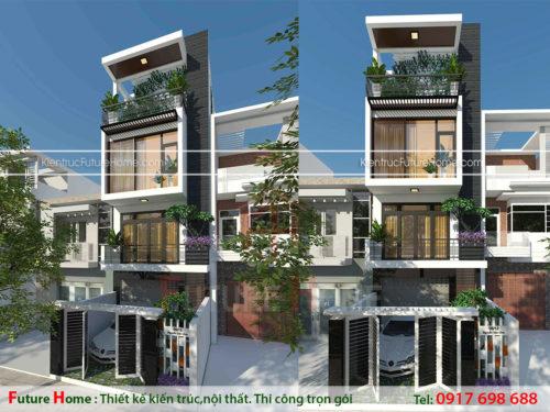 Nhà lô 4 tầng mặt tiền 5m hiện đại