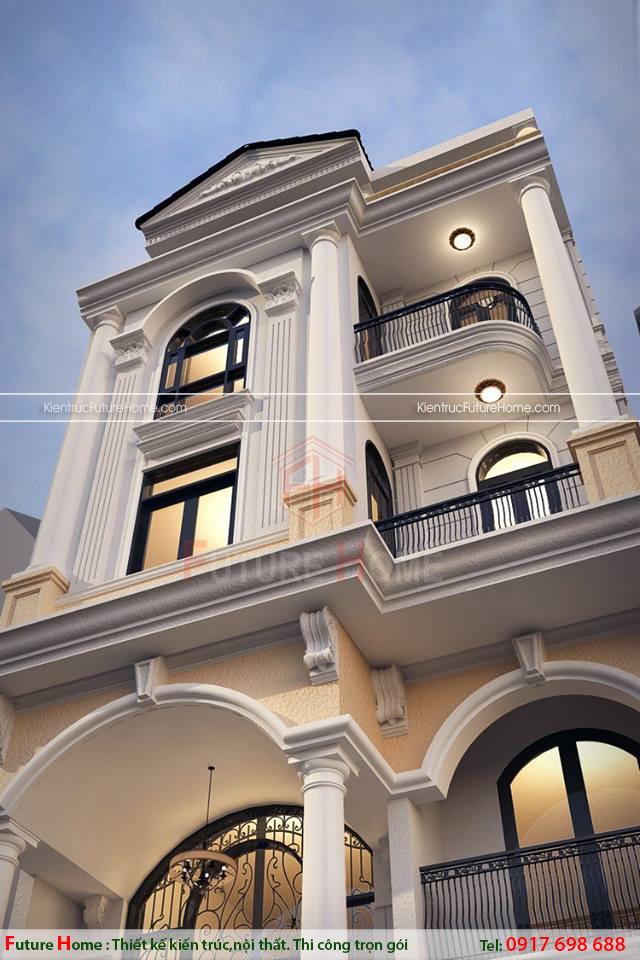 Nhà lô kiến trúc pháp đẹp
