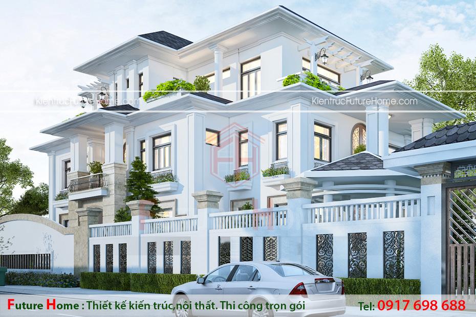 Bảo Duy Chồng Cũ Phi Thanh Vân: Thiết Kế Biệt Thự Pháp 3 Tầng Sang Trọng, Sân Cổng Rộng