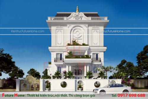 Thiết kế biệt thự phong cách châu Âu