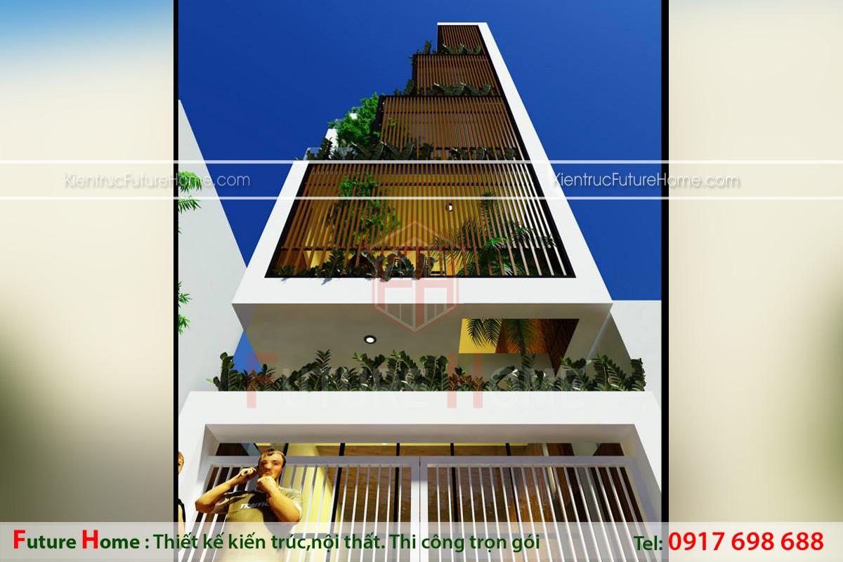 biệt thự 5 tầng mặt tiền 8m