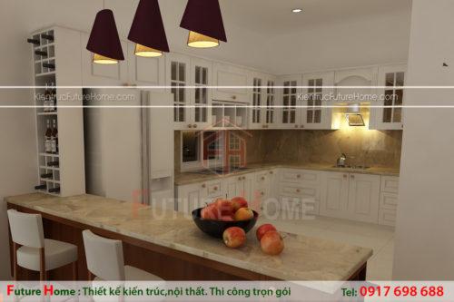 thiết kế nội thất nhà bếp nhà cấp 4