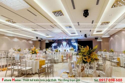thiết kế hội trường tiệc cưới sang trọng