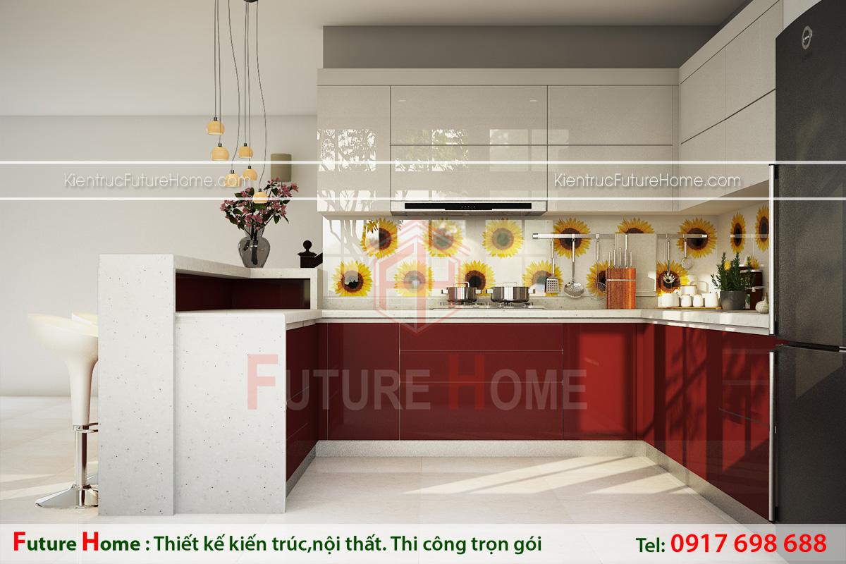 thiết kế tủ bếp hợp phong thủy